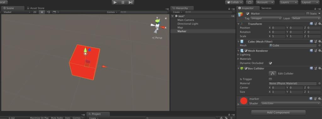 【Unity】mapbox for Unity – 現在地点にマーカーを表示する