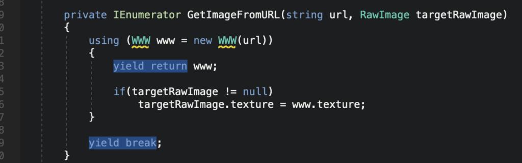 【Unity】URLから画像を取得しRawImageに貼り付ける