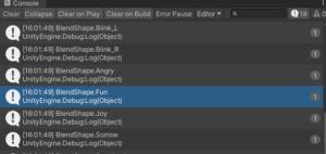 【Unity】VRMのBlendShapeのパラメータ名一覧を取得する
